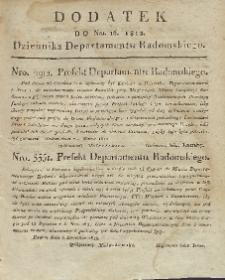 Dziennik Departamentowy Radomski, 1812, nr 16, dod.