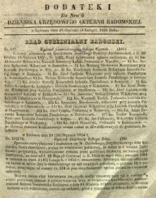 Dziennik Urzędowy Gubernii Radomskiej, 1854, nr 5, dod. I