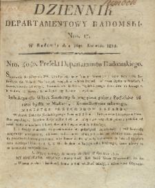 Dziennik Departamentowy Radomski, 1812, nr 17