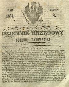 Dziennik Urzędowy Gubernii Radomskiej, 1854, nr 8