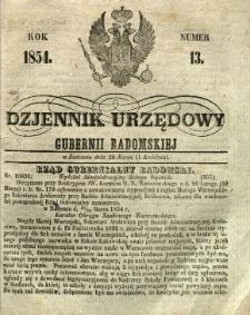 Dziennik Urzędowy Gubernii Radomskiej, 1854, nr 13