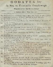 Dziennik Urzędowy Województwa Sandomierskiego, 1831, nr 20, dod.I