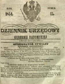 Dziennik Urzędowy Gubernii Radomskiej, 1854, nr 15