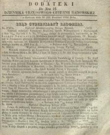Dziennik Urzędowy Gubernii Radomskiej, 1854, nr 16, dod. I