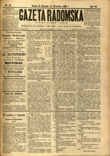 Gazeta Radomska, 1890, R. 7, nr 70