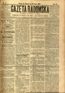 Gazeta Radomska, 1890, R. 7, nr 71