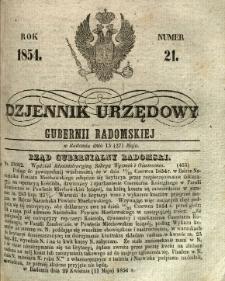 Dziennik Urzędowy Gubernii Radomskiej, 1854, nr 21