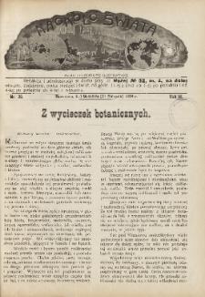 Naokoło Świata : pismo tygodniowe ilustrowane, poświęcone opisom ziem, ludów, podróży, zjawisk przyrody i wynalazków, 1904, R. III, nr 36