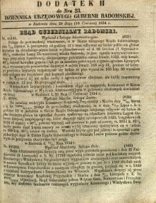 Dziennik Urzędowy Gubernii Radomskiej, 1854, nr 23, dod. II