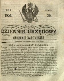 Dziennik Urzędowy Gubernii Radomskiej, 1854, nr 29