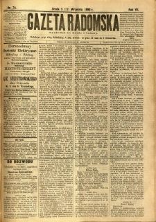 Gazeta Radomska, 1890, R. 7, nr 74