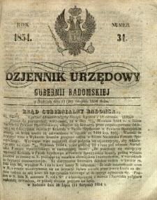 Dziennik Urzędowy Gubernii Radomskiej, 1854, nr 34