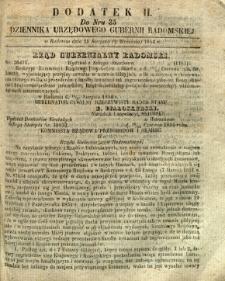 Dziennik Urzędowy Gubernii Radomskiej, 1854, nr 35, dod. II