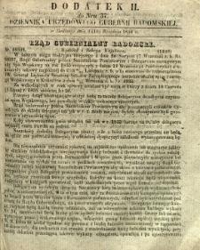Dziennik Urzędowy Gubernii Radomskiej, 1854, nr 37, dod. II