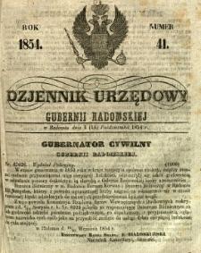 Dziennik Urzędowy Gubernii Radomskiej, 1854, nr 41