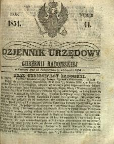 Dziennik Urzędowy Gubernii Radomskiej, 1854, nr 44