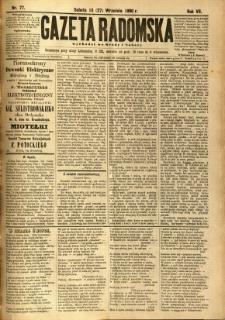Gazeta Radomska, 1890, R. 7, nr 77