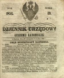 Dziennik Urzędowy Gubernii Radomskiej, 1854, nr 49