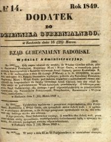 Dodatek do Dziennika Gubernialnego, 1849, nr 14