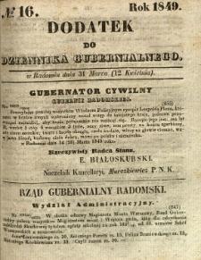 Dodatek do Dziennika Gubernialnego, 1849, nr 16