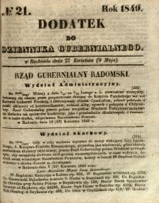 Dodatek do Dziennika Gubernialnego, 1849, nr 21