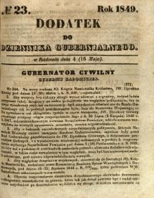 Dodatek do Dziennika Gubernialnego, 1849, nr 23