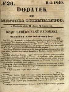 Dodatek do Dziennika Gubernialnego, 1849, nr 26