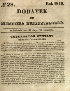 Dodatek do Dziennika Gubernialnego, 1849, nr 28