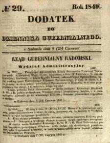 Dodatek do Dziennika Gubernialnego, 1849, nr 29
