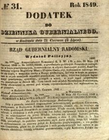 Dodatek do Dziennika Gubernialnego, 1849, nr 31