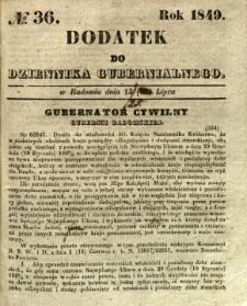Dodatek do Dziennika Gubernialnego, 1849, nr 36