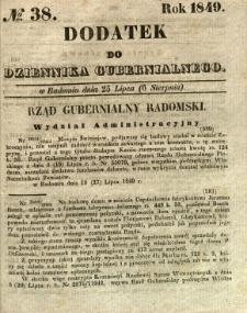 Dodatek do Dziennika Gubernialnego, 1849, nr 38