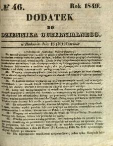 Dodatek do Dziennika Gubernialnego, 1849, nr 46