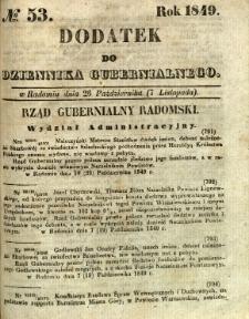 Dodatek do Dziennika Gubernialnego, 1849, nr 53