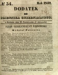 Dodatek do Dziennika Gubernialnego, 1849, nr 54
