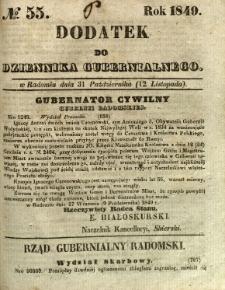 Dodatek do Dziennika Gubernialnego, 1849, nr 55