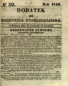 Dodatek do Dziennika Gubernialnego, 1849, nr 59