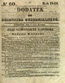 Dodatek do Dziennika Gubernialnego, 1849, nr 60