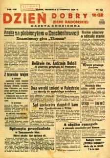 Dzień Dobry Ziemi Radomskiej, 1938, R. 8, nr 154