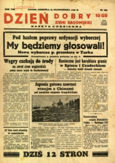 Dzień Dobry Ziemi Radomskiej, 1938, R. 8, nr 294