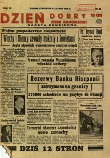 Dzień Dobry Ziemi Radomskiej, 1939, R. 9, nr 40