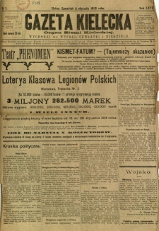 Gazeta Kielecka, 1918, R. 47, nr 2