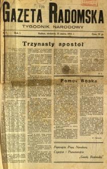Gazeta Radomska : Tygodnik Narodowy, 1934, R. 1, nr 7