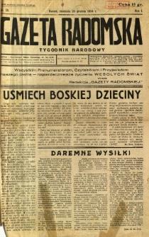 Gazeta Radomska : Tygodnik Narodowy, 1934, R. 1, nr 25