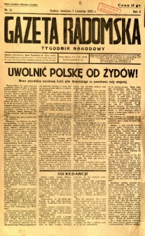 Gazeta Radomska : Tygodnik Narodowy, 1935, R. 2, nr 14