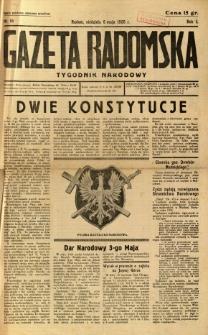 Gazeta Radomska : Tygodnik Narodowy, 1935, R. 2, nr 18
