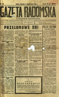 Gazeta Radomska : Tygodnik Narodowy, 1938, R. 4, nr 40