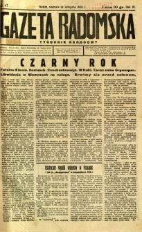Gazeta Radomska : Tygodnik Narodowy, 1938, R. 4, nr 47