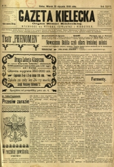 Gazeta Kielecka, 1918, R. 47, nr 10