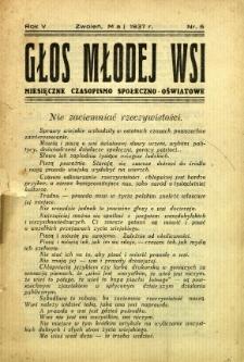 Głos Młodej Wsi, 1937, R. 5, nr 5